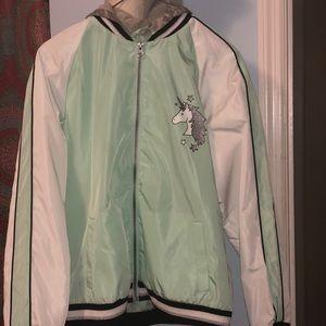 Girl's Unicorn Jacket, light weight